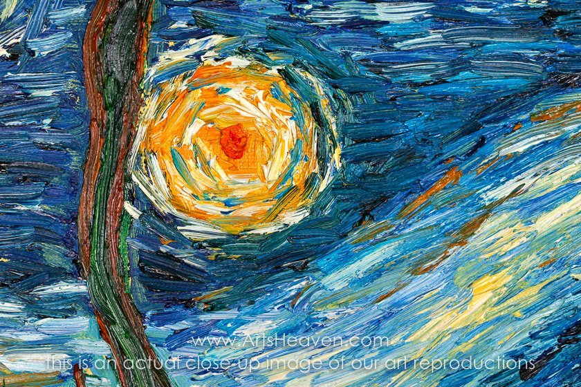 STARRY NIGHT VINCENT VAN GOGH WATER REFLECTIONS PAINTING ART REAL CANVAS PRINT
