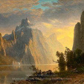 Albert Bierstadt In The Mountains