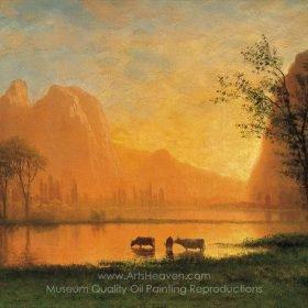 Albert Bierstadt Sundown at Yosemite