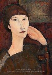 Amedeo Modigliani Adrienne Woman with Bangs