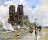 Childe Hassam Notre Dame Cathedral, Paris