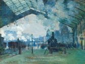 Claude Monet Arrival of the Normandy Train, Gare Saint-Lazare