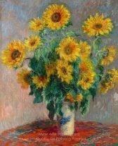 Claude Monet Bouquet of Sunflowers