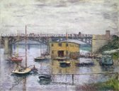 Claude Monet Bridge at Argenteuil on a Gray Day
