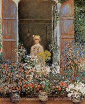 Claude Monet Camille Monet at the Window, Argenteuil