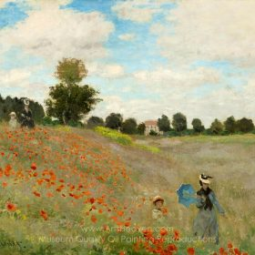 Claude Monet Field of Poppies, Argenteuil