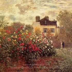 Claude Monet The Garden at Argenteuil (The Dahlias)