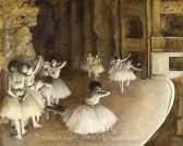 Edgar Degas Ballet Rehearsal on Stage