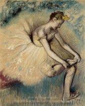 edgar-degas-dancer-putting-on-her-slipper
