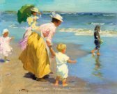 Edward Potthast At the Beach