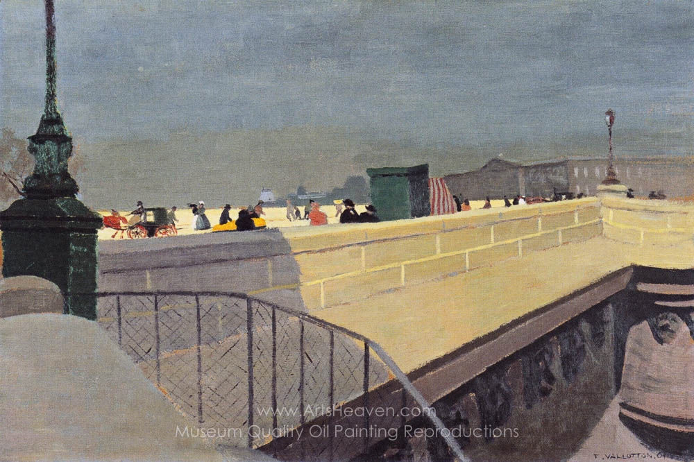Vallotton, Felix Le Pont-Neuf Painting Reproductions - Save 50-75 ...