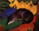 Franz Marc Blue Black Fox