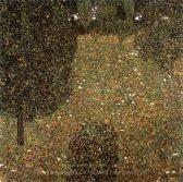 Gustav Klimt Landscape Garden Meadow in Flower