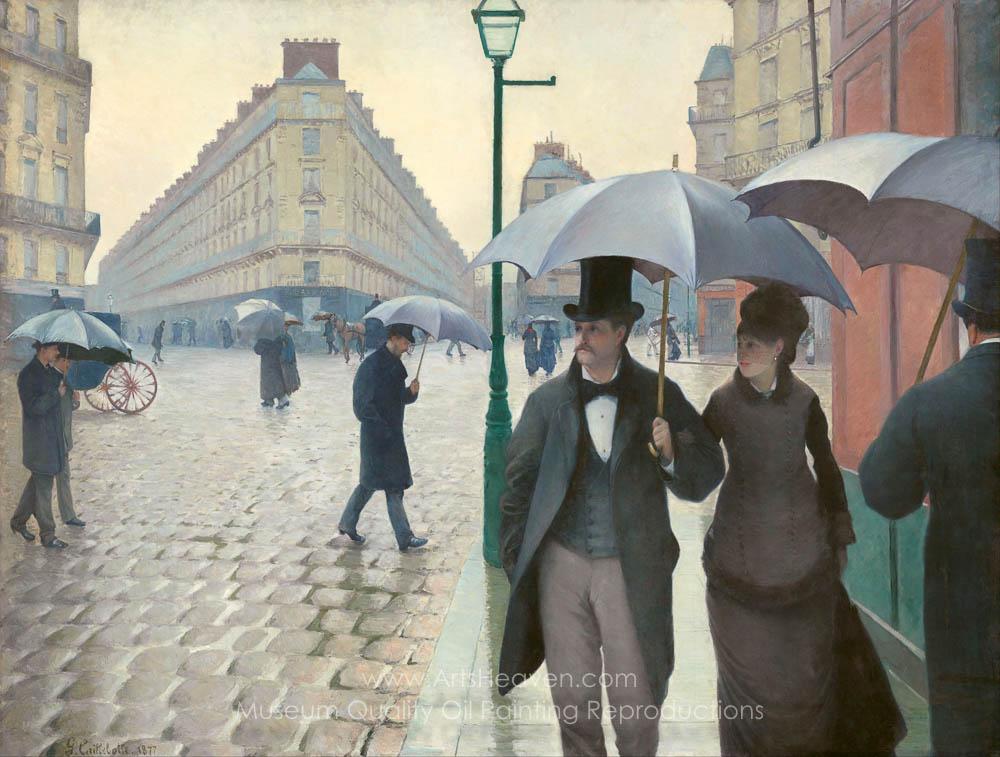Gustave Caillebotte Paris Street Rainy Weather