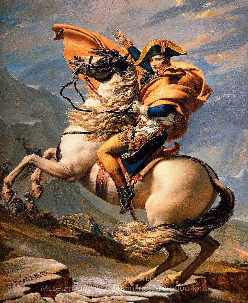 Jacques Louis David Napoleon at the St. Bernard Pass