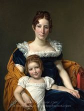 Jacques-Louis David Portrait of the Comtesse Vilain XIIII and her Daughter
