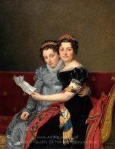 Jacques-Louis David Portrait of the Sisters Zénaïde and Charlotte Bonaparte