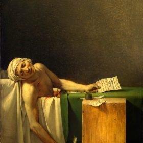 Jacques-Louis David The Death of Marat