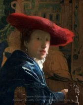 Jan Vermeer Girl with a Red Hat
