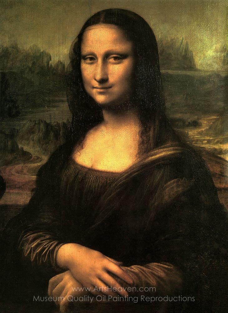 Vinci, Leonardo Da Mona Lisa (La Gioconda) Painting ... Da Vinci Mona Lisa