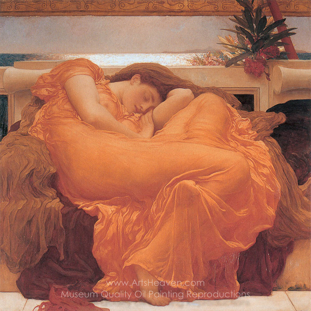 Lord Frederic Leighton Flaming June