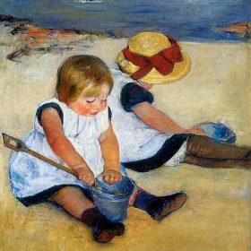 Mary Cassatt Children on the Shore