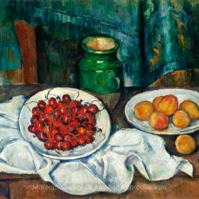 Paul Cézanne Still Life with Plate of Cherries