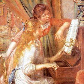 Pierre-Auguste Renoir Girls at the Piano (Jeunes Filles Au Piano)