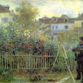 Pierre-Auguste Renoir Monet Painting in His Garden at Argenteuil