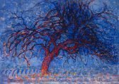 Piet Mondrian Avond Evening, Red Tree