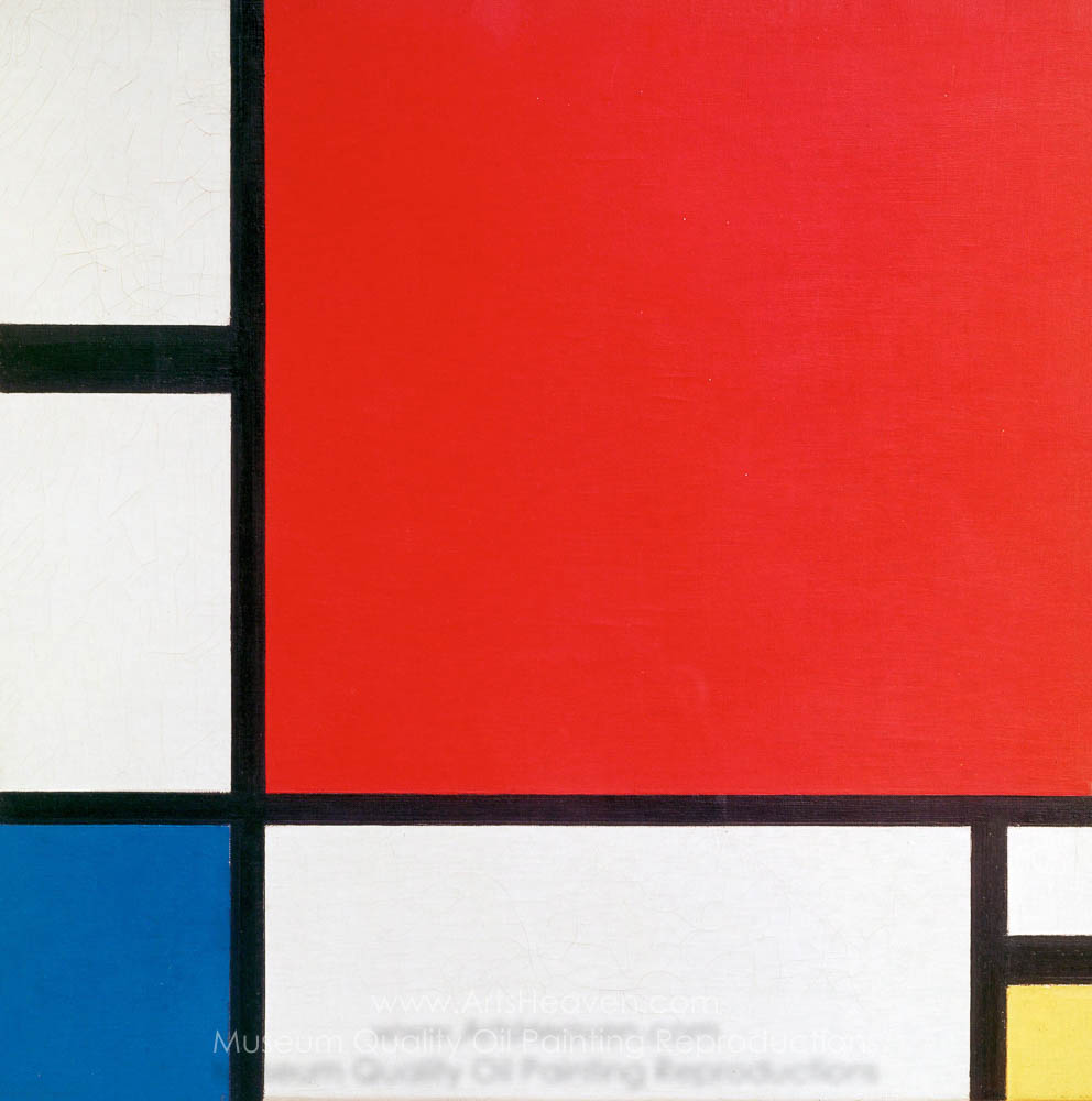 Piet Mondrian Composition with Red, Blue and Yellow