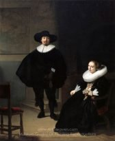 A lady and gentleman in black, by Rembrandt
