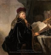 rembrandt-a-scholar-seated-at-a-desk