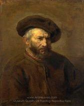 A Study of an Elderly Man in a Cap