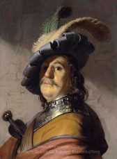Man in a gorget and a cap