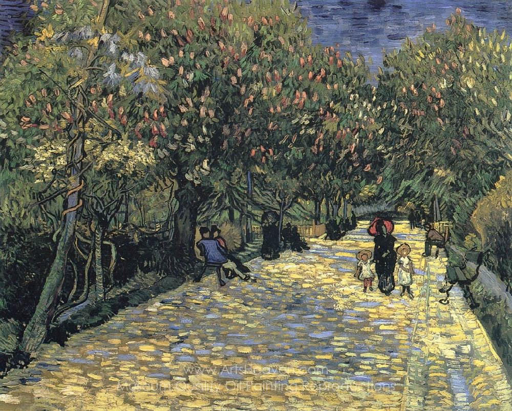"""Vincent Van Gogh 20/""""x26/""""  Art on Canvas Autumn Landscape with Four Trees"""