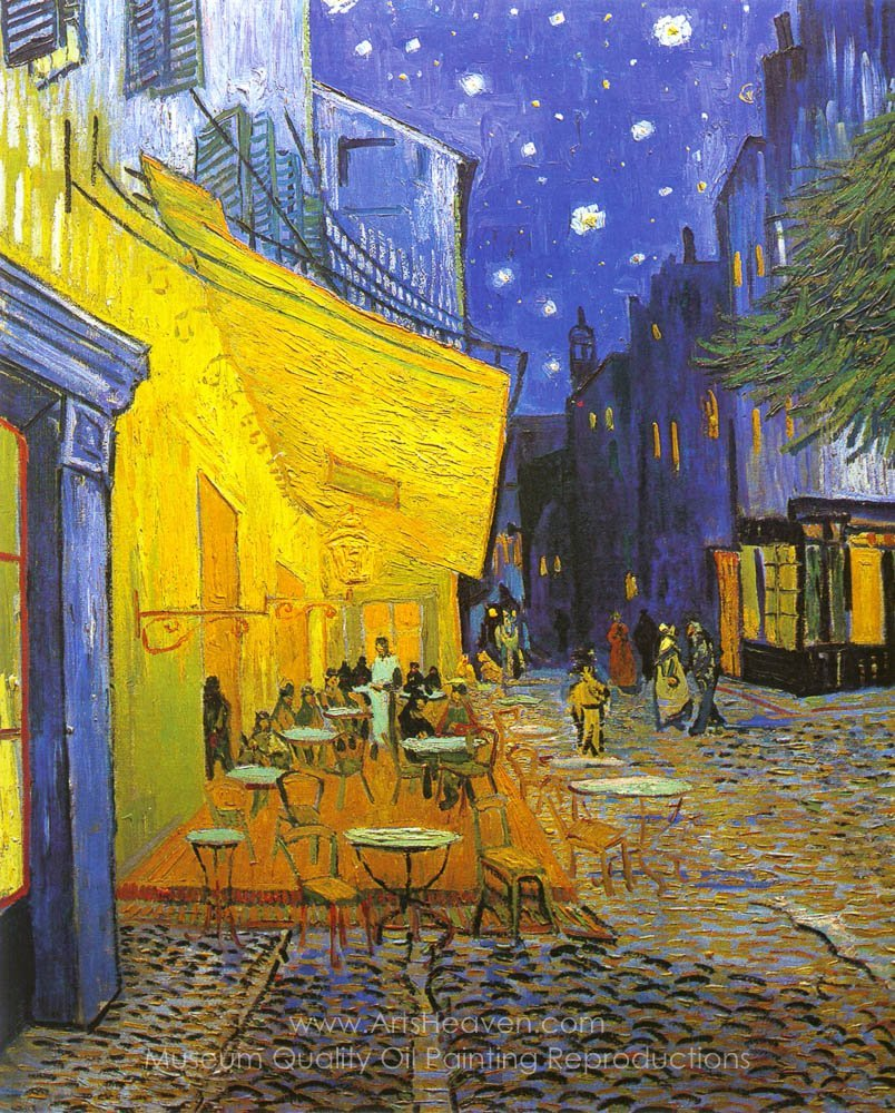 Gogh Vincent Van Caf 233 Terrace At Night Painting