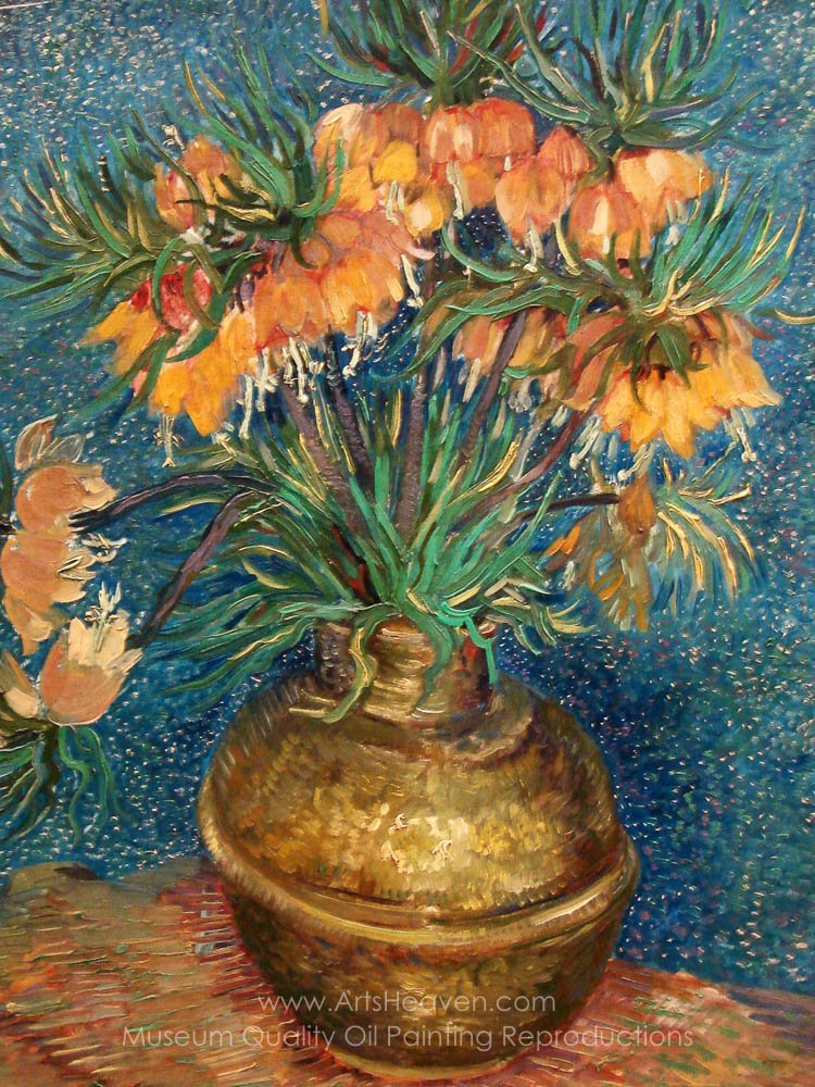 Fritillaries in a Copper Vase. Artist Vincent Van Gogh & Gogh Vincent Van Fritillaries in a Copper Vase Painting ...