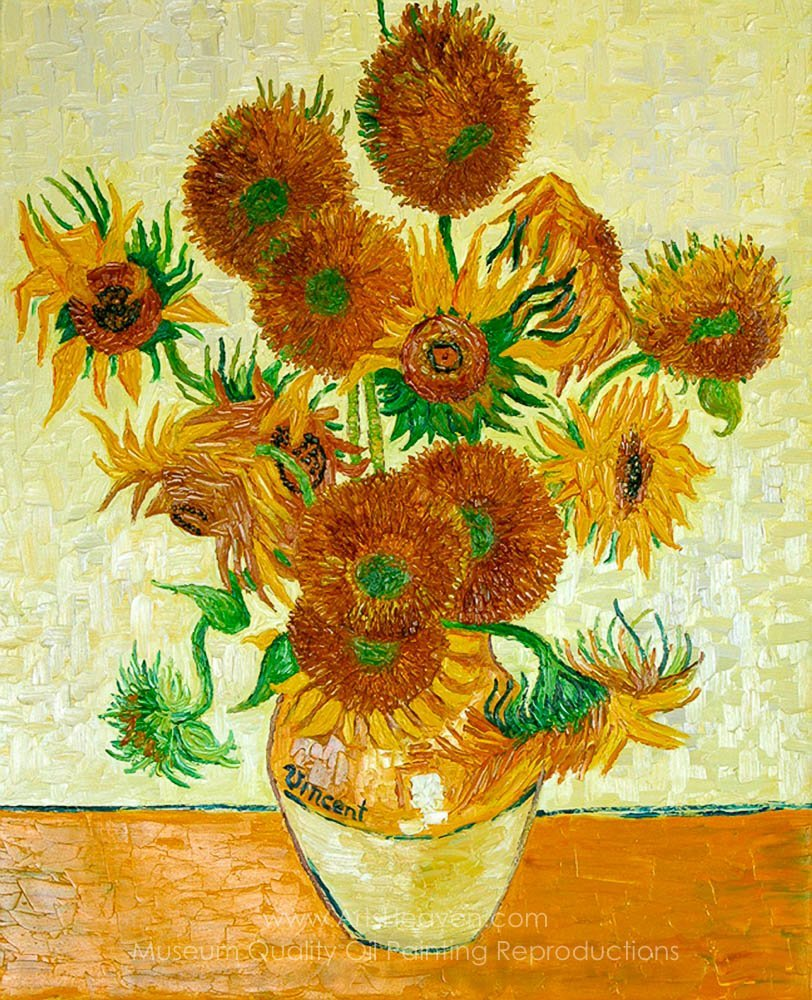 Gogh, Vincent Van Sunflowers, 14 in a Vase Painting ...