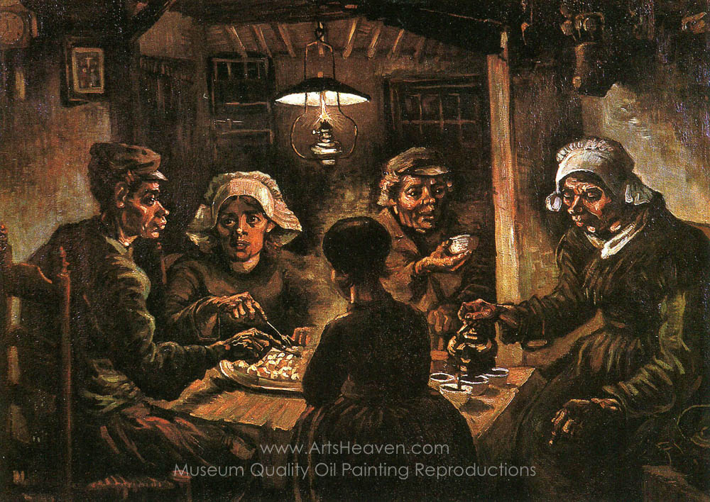 Image result for potato eaters van gogh