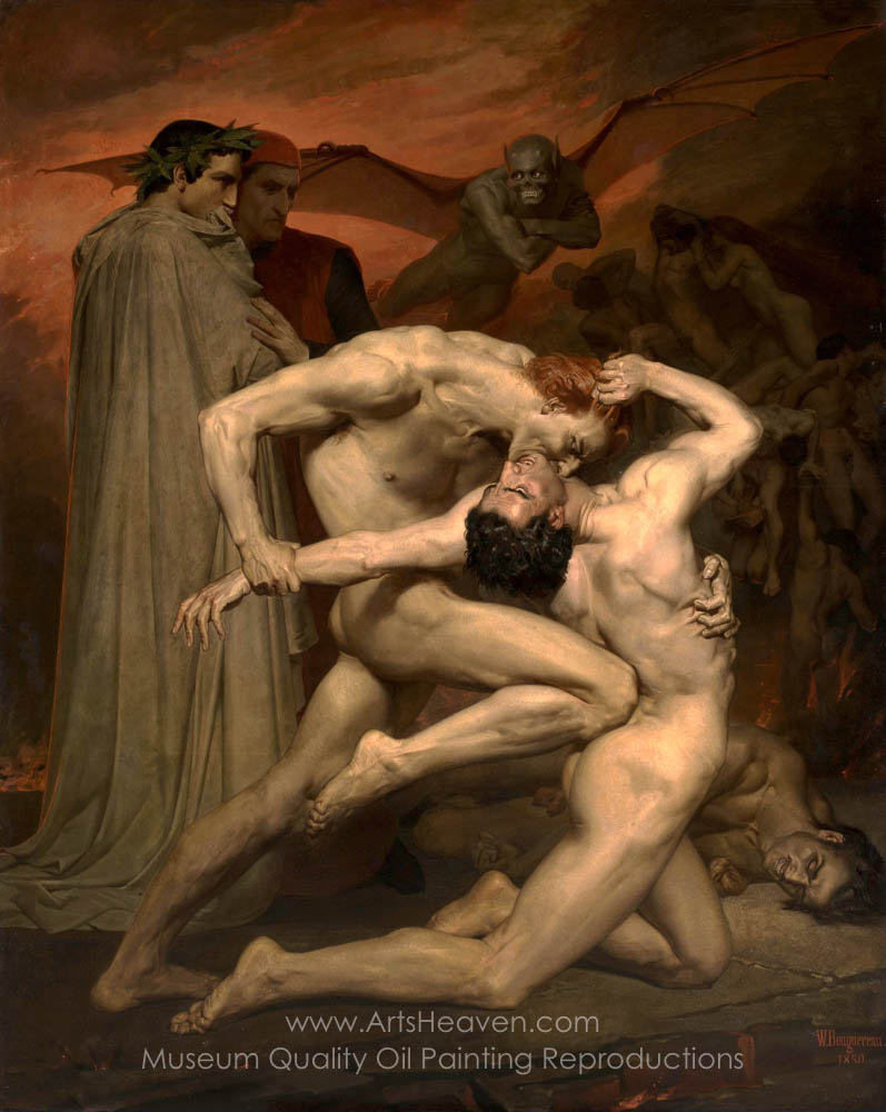 William Adolphe Bouguereau Dante and Virgil in Hell
