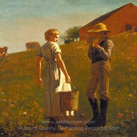 Winslow Homer A Temperance Meeting, Noon Time