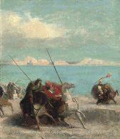 Odilon Redon Crusaders near the sea