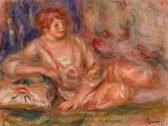 Pierre Auguste Renoir Andree in Pink Reclining