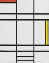Piet Mondrian Composition in White Red and Yellow